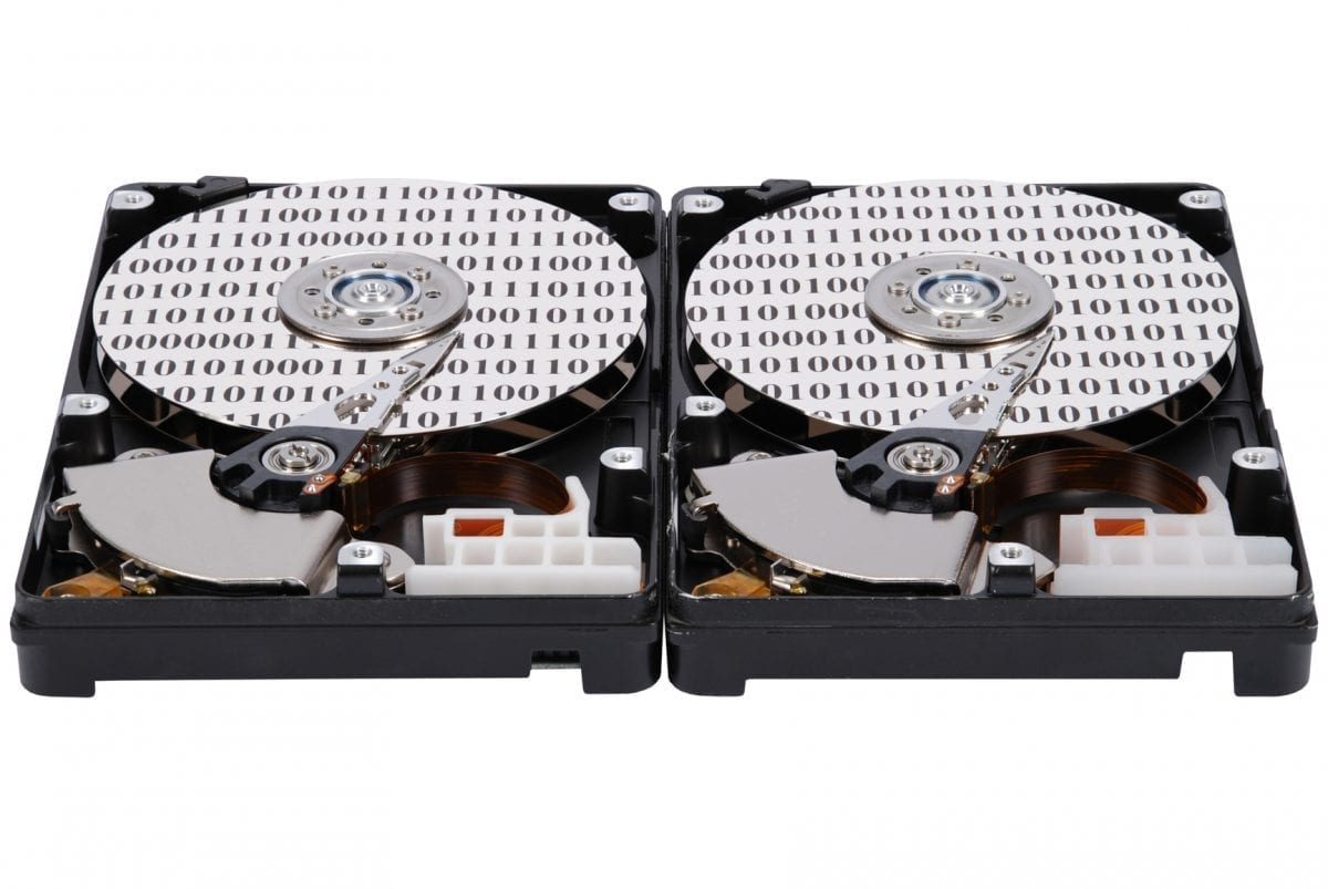 Two hard drives